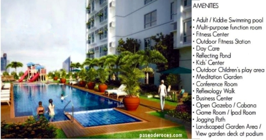 Amenities available to resident of Paseo de Roces